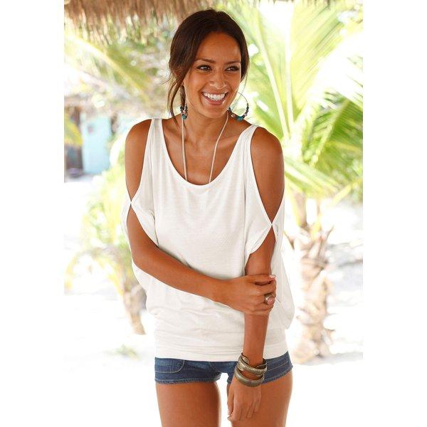LASCANA Strandshirt mit Schulterschlitzen