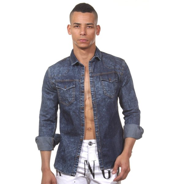 CATCH Jeans-Langarmhemd slim fit