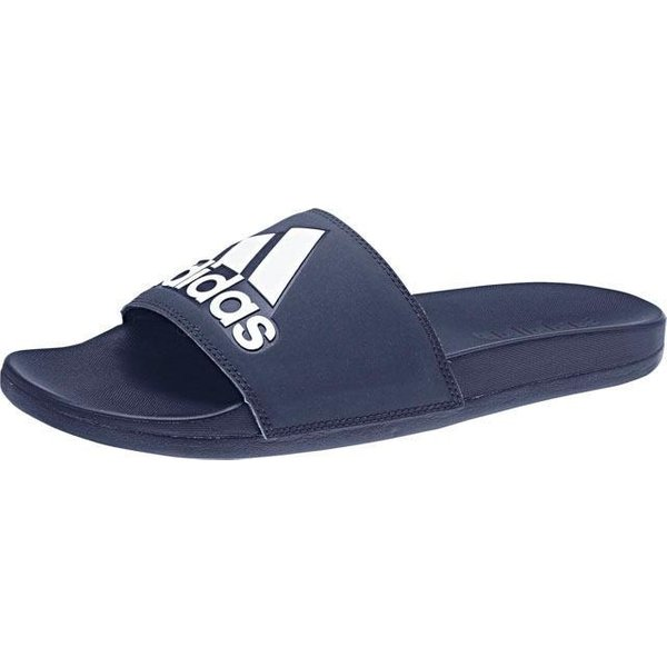 adidas Adilette Cloudfoam Plus Logo Slides - UK 5 Blue/White