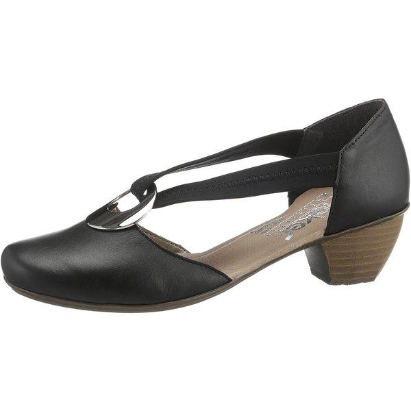 Komfort-Pumps von Rieker in schwarz für Damen. Gr. 41