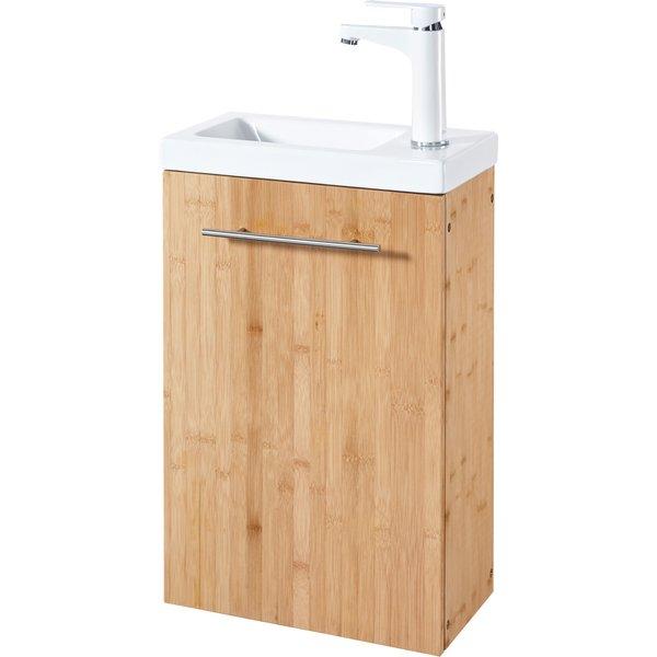 KONIFERA Waschtisch »Bambus New«, Waschplatz, 40 cm breit, für das Gästebad, 2-tlg., SlimLine