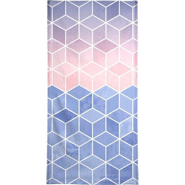 """Handtuch """"Rose Quartz and Serenity Cubes"""", Juniqe"""