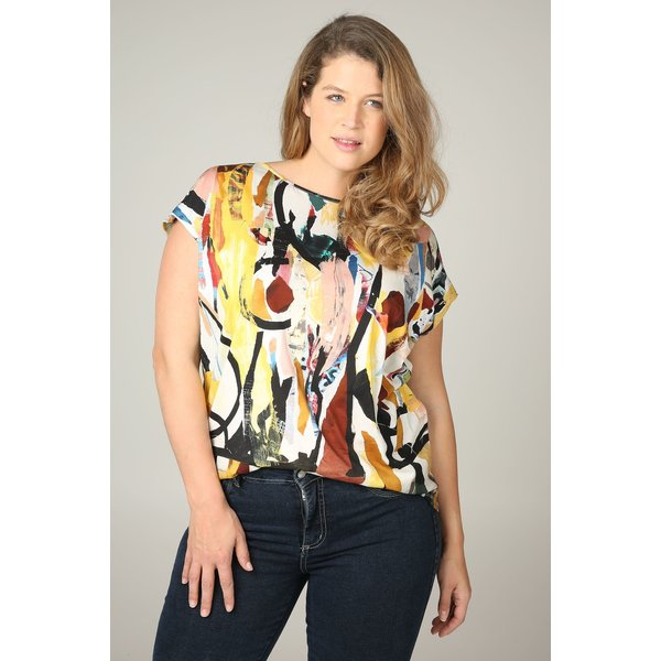 Paprika Print-Shirt »T-Shirt mit Pinselstrich-Aufdruck«