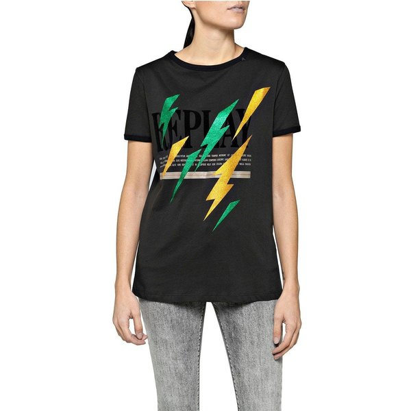 REPLAY Shirt T-Shirts schwarz Damen Gr. 38