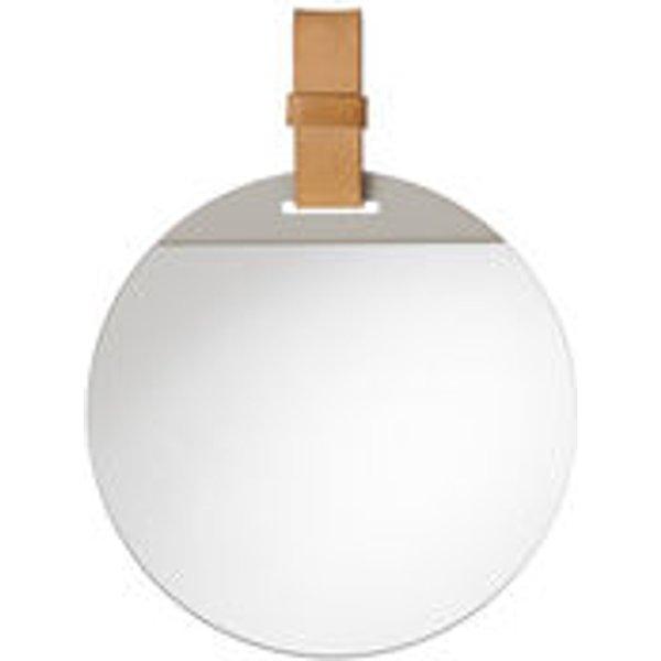 Miroir mural Enter / Ø 26 cm - Ferm Living beige en cuir