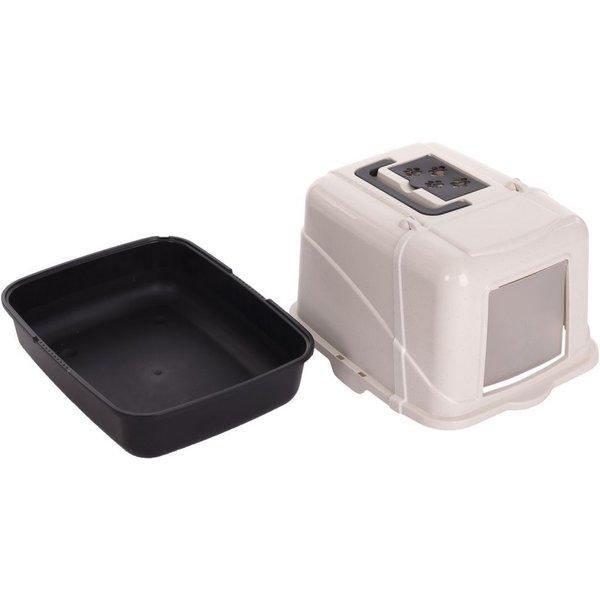 Cabrio Cat Litter Box - Anthracite & Cream Speckled