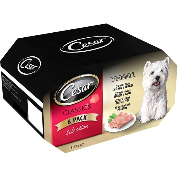 Cesar Slow Cooked Classic Selection Trays - 8 x 150g
