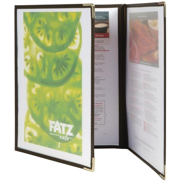 Securit Crystal Double Sided Menu Cover A4 Triple (Pack of 3) Pack of 3