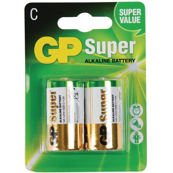 C Size Batteries (Pack of 2) Pack of 2 (GP14A-C2)