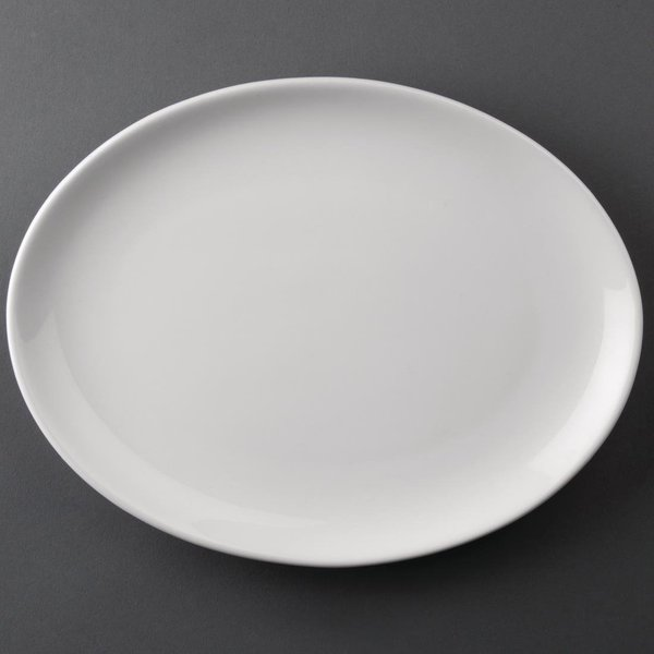 Athena Hotelware Oval Coupe Plates 254 x 197 mm Pack of 12 (CC211)
