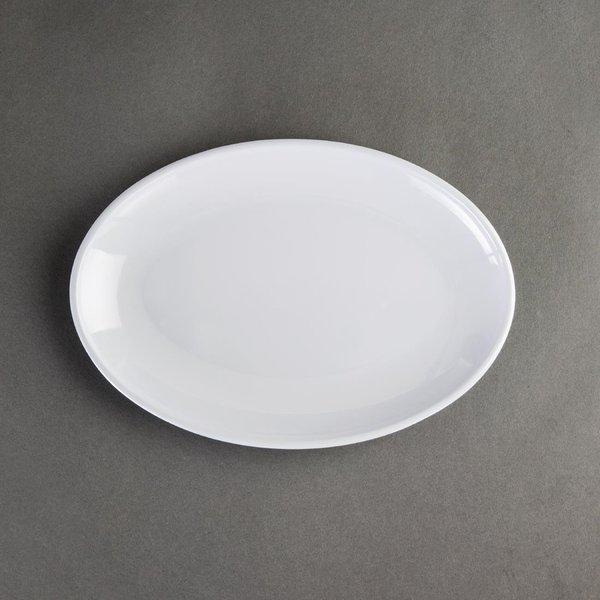Kristallon Melamine Oval Coupe Plates 225mm Pack of 12 (CD296)