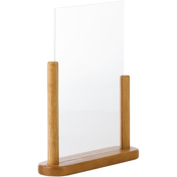 Securit Acrylic Menu Holder With Wooden Frame A4