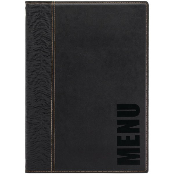 Securit Contemporary Menu Cover Black A4 (MC-TRA4-BL)