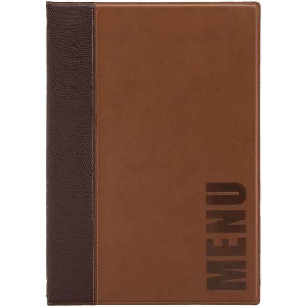 Securit Contemporary Menu Cover Tan A4 (MC/TRA4/LB)