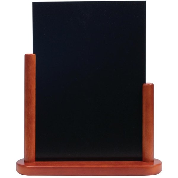Securit Half Frame Table Top Blackboard 320 x 270mm Mahogany