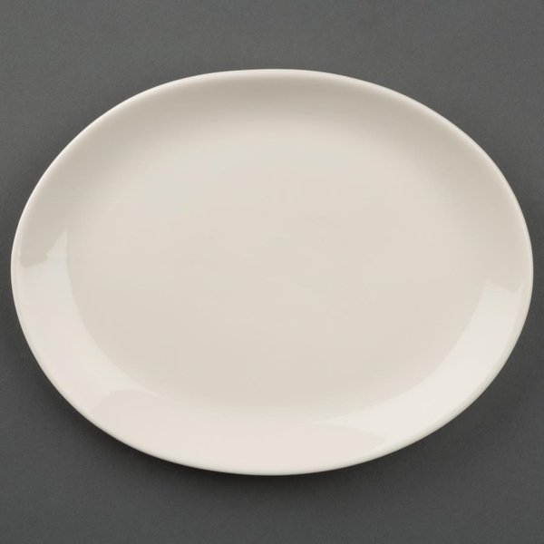 Olympia Ivory Oval Coupe Plates 202mm Pack of 12