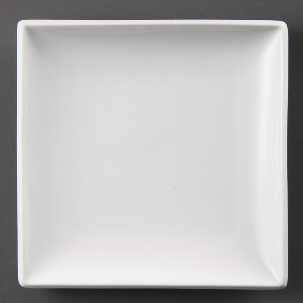 Olympia Whiteware Square Plates 180mm Pack of 12