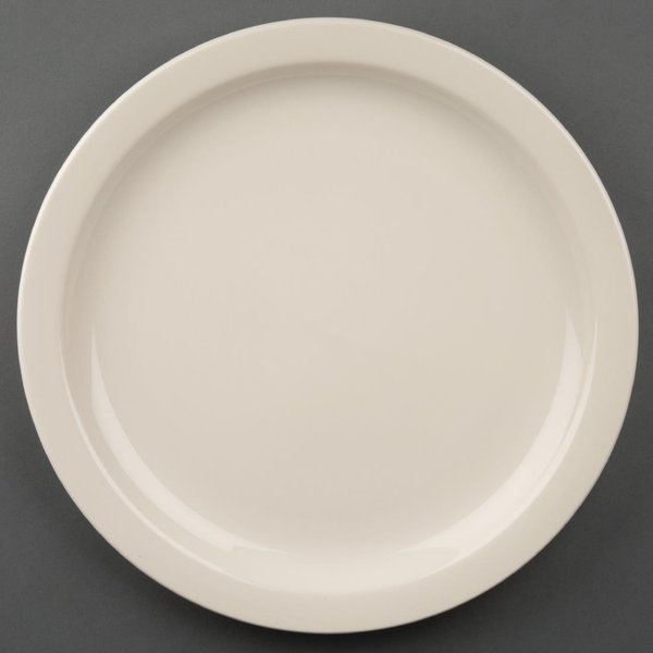 Olympia Ivory Narrow Rimmed Plates 280mm Pack of 6