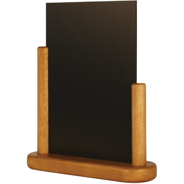 Securit Half Frame Table Top Blackboard 280 x 200mm Teak