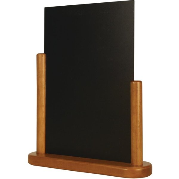 Securit Half Frame Table Top Blackboard 320 x 270mm Teak