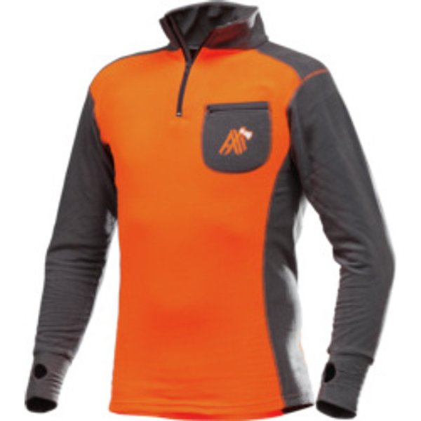 Funktions Langarmshirt AX-MEN ISO orange grau