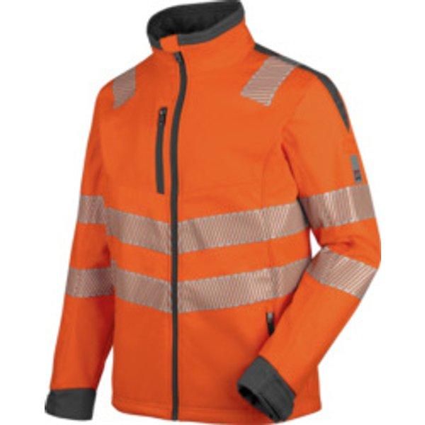 Warnschutz Softshelljacke Neon EN 20471 3 orange anthrazit
