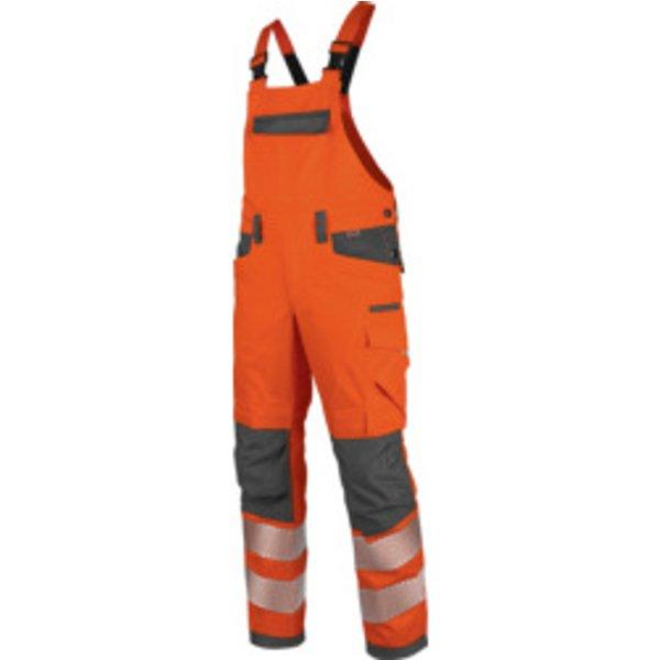 Warnschutz Arbeitslatzhose Neon EN 20471 2 orange anthrazit