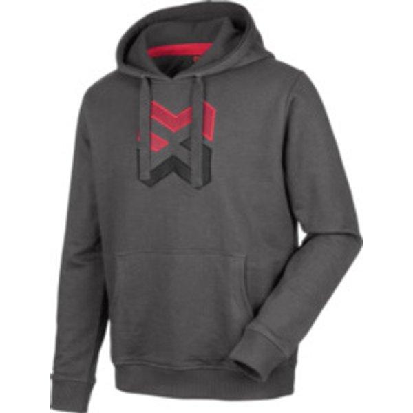Langarmshirt Hoody Logo braun