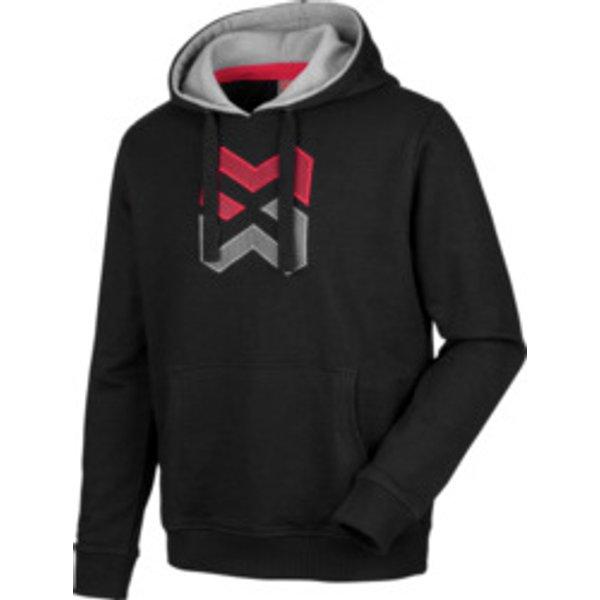 Langarmshirt Hoody Logo schwarz