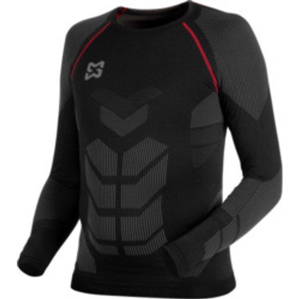 Unterwäsche Long sleeve Basic schwarz rot