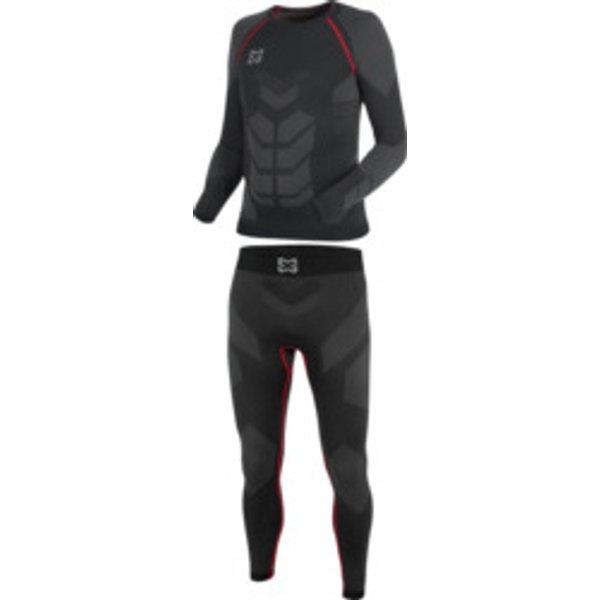 Thermo Unterwäsche Set Basic schwarz rot