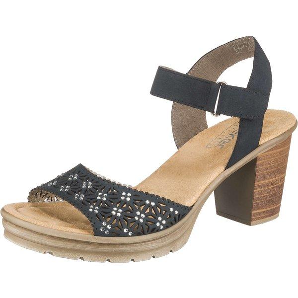 rieker Klassische Sandaletten blau-kombi Damen Gr. 40
