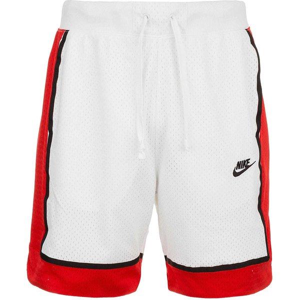 Nike NSW Shorts Herren in white-university red-black, Größe XL