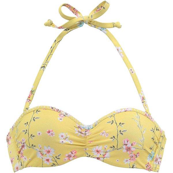 SUNSEEKER Bikini-Top 'Ditsy' gelb / mischfarben