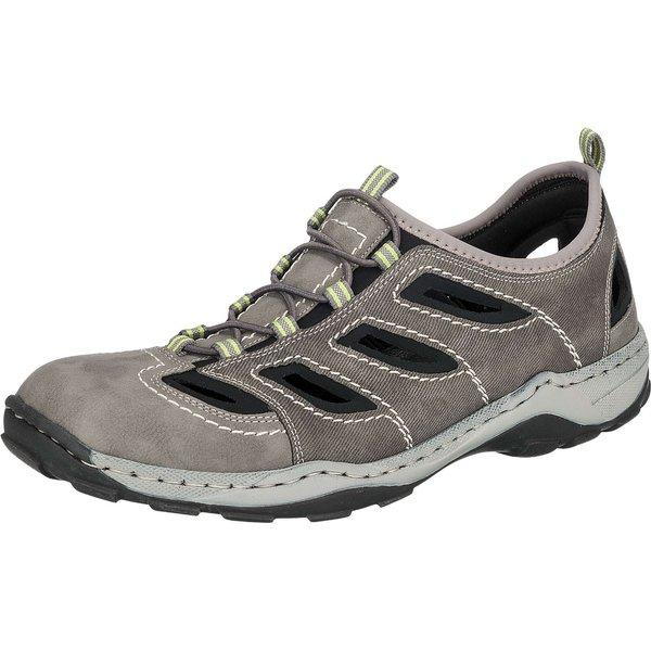 Chaussure Rieker en cuir avec ajours aérés gris
