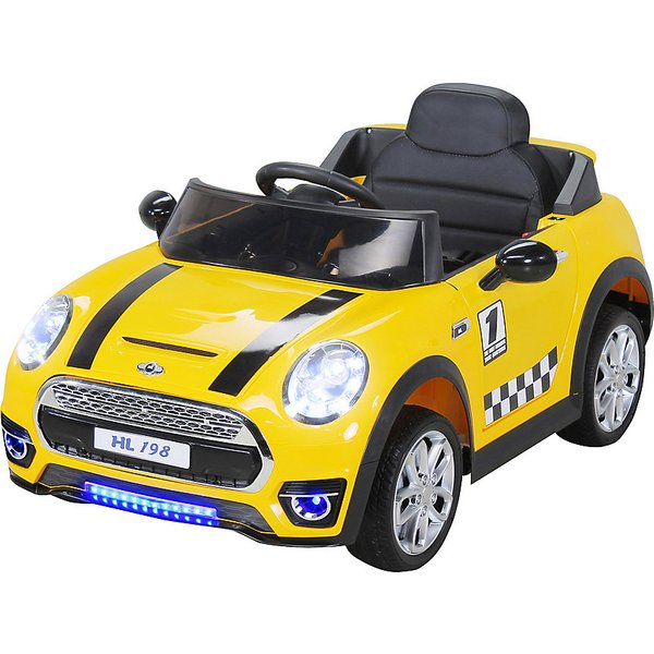 Kinder Elektroauto Mini Cooper 12V, gelb