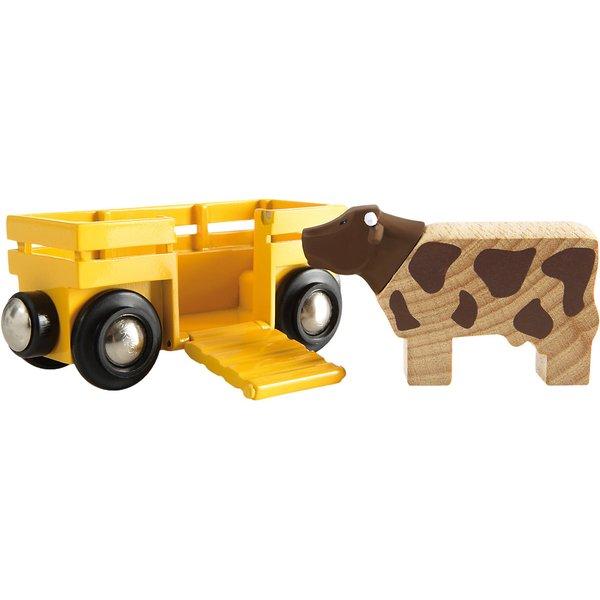 Eisenbahn, Brio, »Tierwagen mit Kuh« (33406000)
