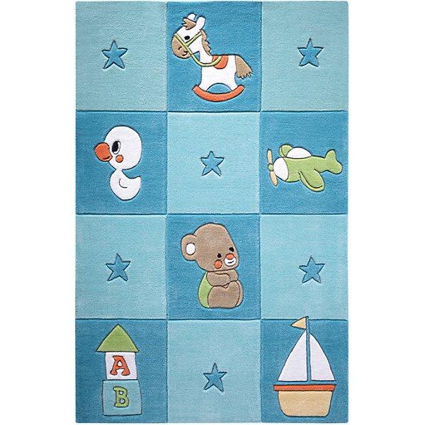 Newborn bleu 130 x 190 cm tapis pour enfants chambre par smart kids