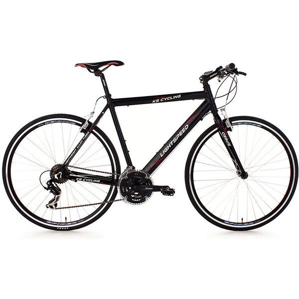 Vélo route alu 28'' Lightspeed noir TC 58 cm KS Cycling