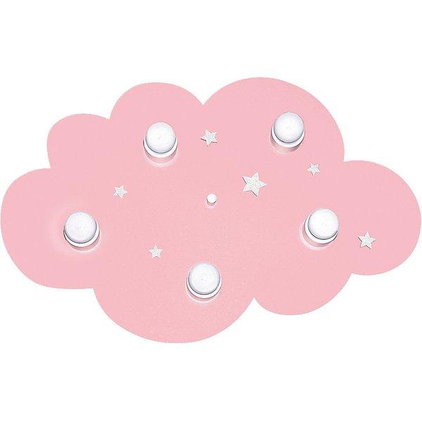 Plafonnier de rêve pour les enfants WOLKE, rose