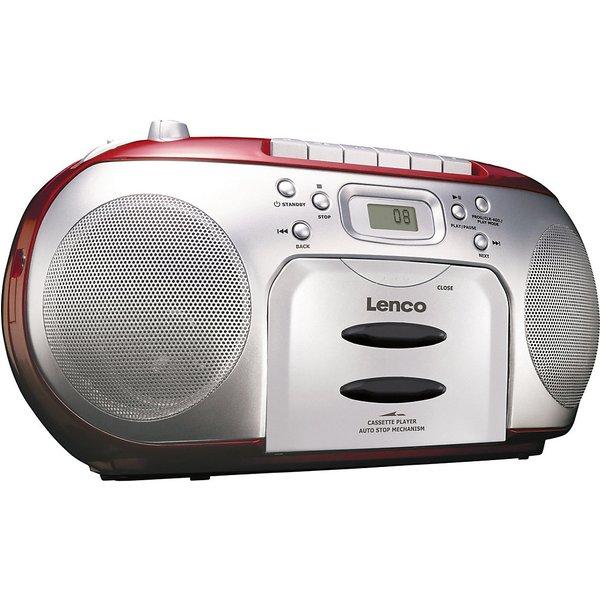 Radio m.CD-Spieler,rot Lenco rot/silber