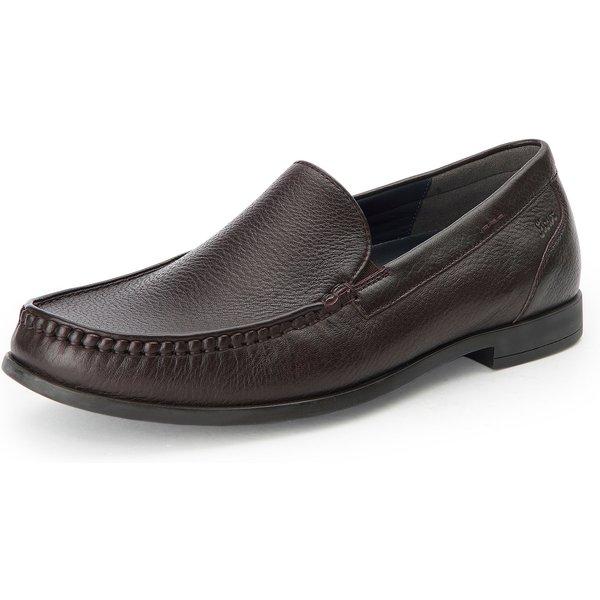 Les mocassins en cuir Sioux marron taille: 44