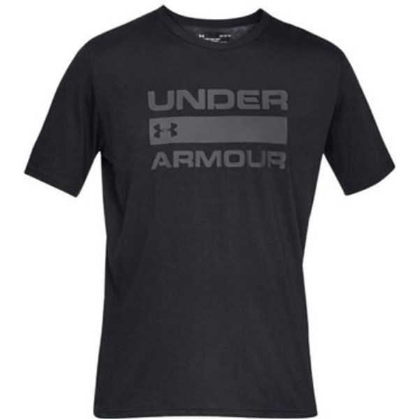 UNDER ARMOUR T-Shirt 'TEAM ISSUE' schwarz / silber
