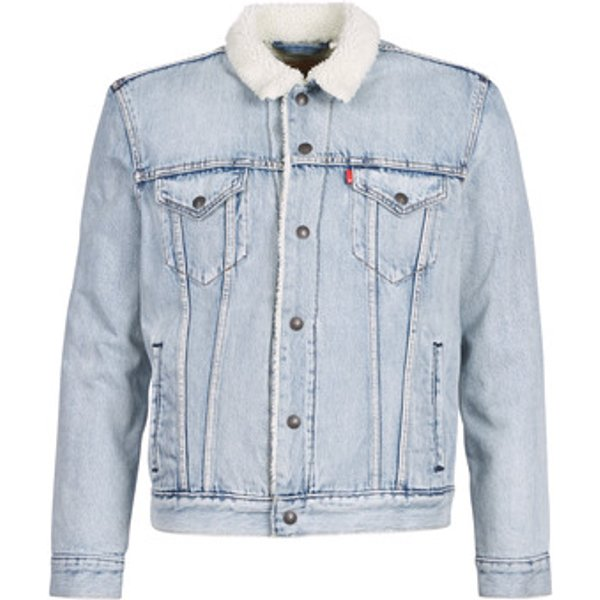 Levis  TYPE 3 SHERPA TRUCKER  men's Denim jacket in Blue