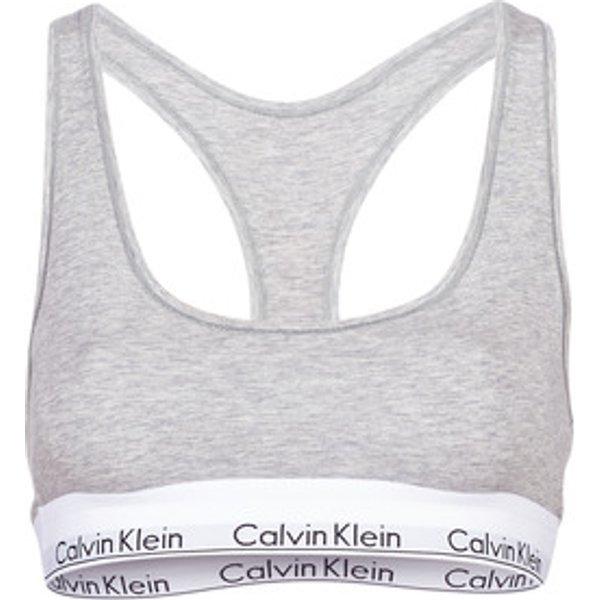 Calvin Klein Jeans  MODERN COTTON UNLINED BRALETTE  women's Sports bras in Grey