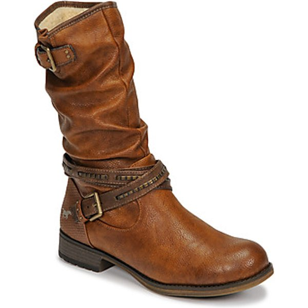 Mustang  1139624  women's High Boots in Brown. Sizes available:3.5,4,5,5.5