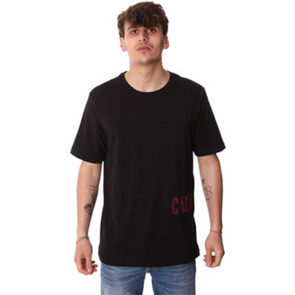 Artikel klicken und genauer betrachten! - Calvin Klein Jeans  T-Shirt 00GMH9K287  Schwarz In Herrengrößen erhältlich. EU S,EU M,EU L,EU XL.  Jetzt 00GMH9K287  von Calvin Klein Jeans  auf Spartoo.de versandkostenfrei bestellen! 5% Rabatt mit Code: SP5DE   im Online Shop kaufen