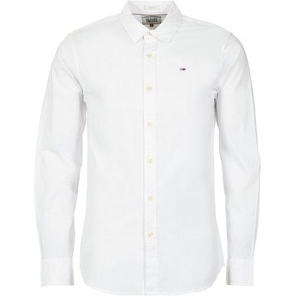 Tommy Jeans Chemise Slim Fit Manches Longues Homme Blanc XL