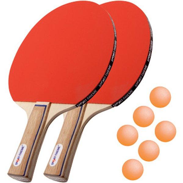 """Sport-Thieme® Tischtennisschläger-Set """"Paris"""", Bälle Orange"""