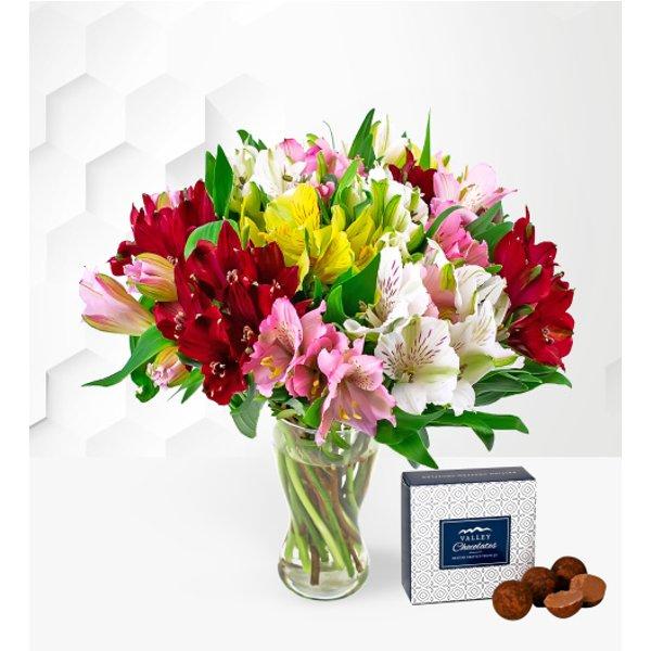 Alstroemeria Bouquet - Free Chocs